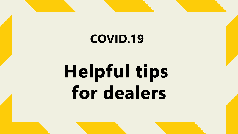 covid.19 tips for dealers