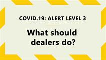 covid level 3 car dealers